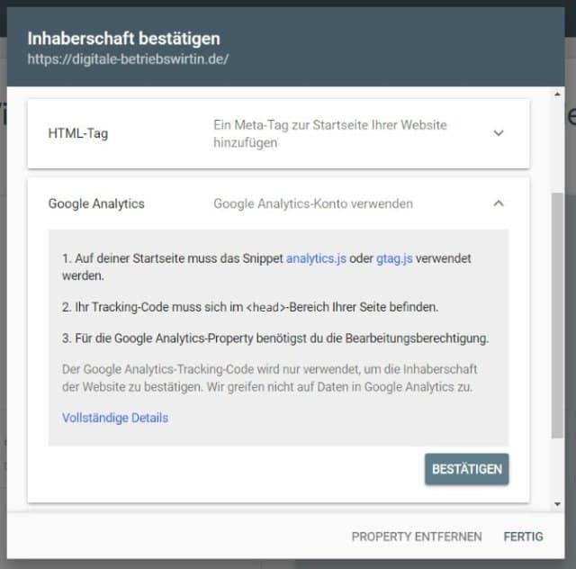 Google Search Console einrichten
